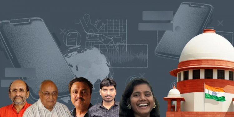 Journalists snooped on by using Pegasus petition SC